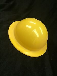 YELLOW PERSPEX ACRYLIC DOME WITH FLANGE .