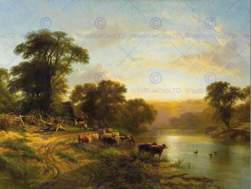 PAINTING LANDSCAPE RURAL COLE SUSSEX EVENING POSTER ART PRINT BB12154B