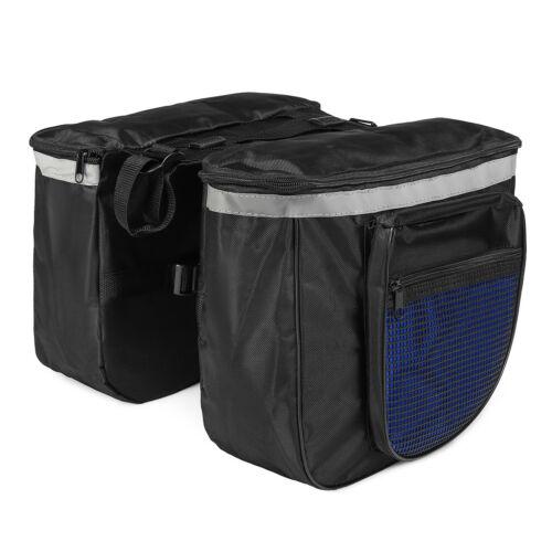 Cycling Bike Bicycle Rear Rack Seat Trunk Saddle Storage Pannier Pouch Bags !