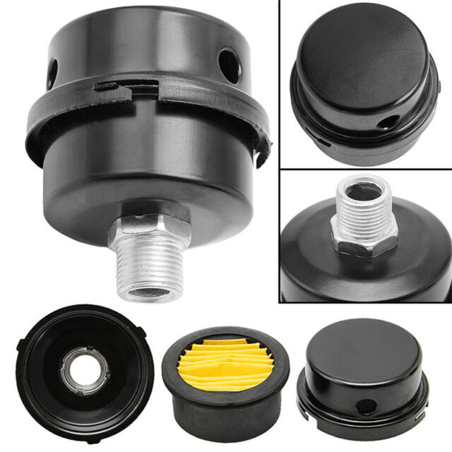 "1/2"" Thread Metal Air Compressor Intake Filter Noise Muffler Silencer 12.5mm  NT"