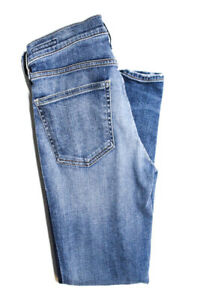 Citizens-of-Humanity-Womens-Mid-Rise-Skinny-Slim-Leg-Jeans-Pants-Blue-Size-28