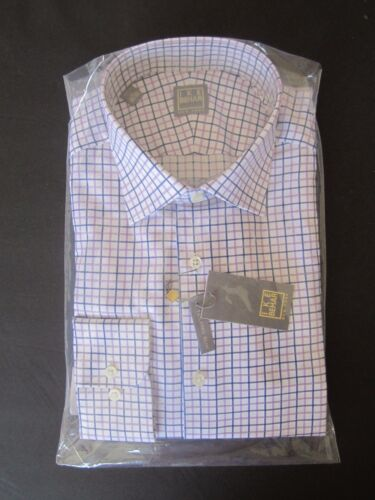 Ike New York Ls Etiqueta 33 Behar cuadros Gold 781910435242 32 Camisa Tailored 15 Nwt a Slim Indigo nI1Uq
