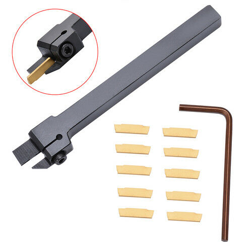 MGEHR1010-2 10 x100mm Grooving Tool Holder 10pcs MGMN200 Insert For 2mm Cut