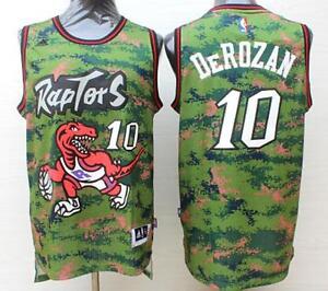 aec75dcbb44 NWT Toronto Raptors DeMar DeRozan camo Jersey size S M L XL XXL | eBay