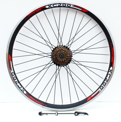 """26/"""" QUICK RELEASE MOUNTAIN BIKE REAR WHEEL WITH SHIMANO FREEWHEEL FITTED"""