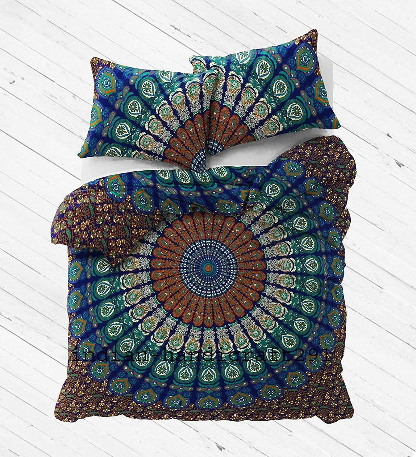 Indian Mandala Bedding Bedspread Coverlet Hippie Bohemian Blanket Cover Throw