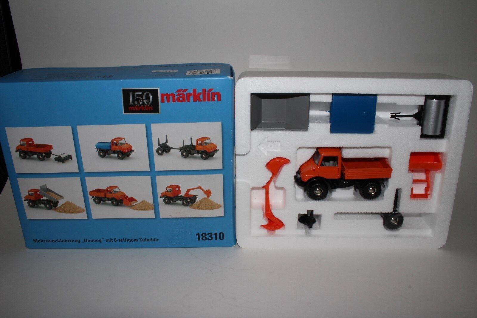 MARKLIN  18310 Multi Purpose  véhicule  Unimog  plus accessoires  magasin fait l'achat et la vente