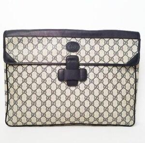 quality design cd2f1 26988 Details about Authentic Vintage Gucci Bag Attache Case Briefcase Business  slipcase