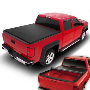 For 2014 2018 Silverado Sierra 1500 2500hd 8 Ft Bed Soft Roll Up Tonneau Cover Ebay