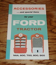 1953-1962 Ford Tractor Accessories Brochure NAA 600 700 800 900 53-62