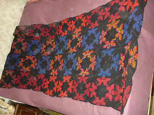#792 Vintage Hand Made Coverlet 83''/39''(210cm/100cm)