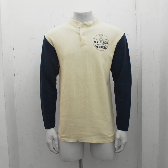 NEW Ebbets Field Flannels New York Black Yankees Fungo Henley Shirt RRP £130