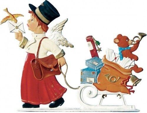 Artist Wilhelm Schweizer German Christmas Pewter Zinnfiguren 2004 Angel Postman