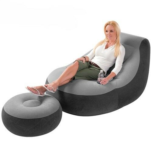 1 of 1 - Intex Inflatable Large Gaming Chair Adult Indoor Outdoor Giant Gamer XXL
