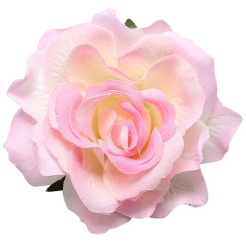 Bridal Rose Flower Hairpin Brooch Wedding Bridesmaid  Accessories Hair Clip PT