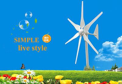 New High Efficiency 300W Wind Turbine Generator Kit AC12/24V Max up to 350W