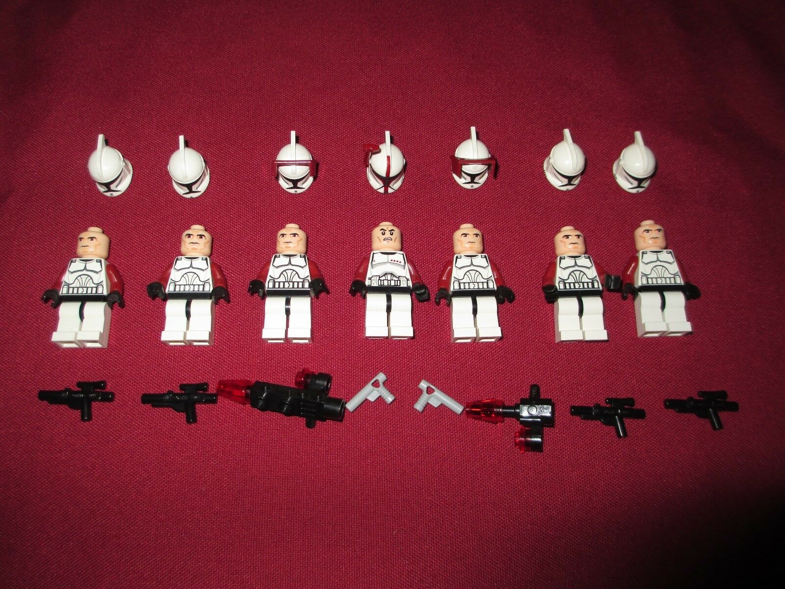 LEGO Star Wars Minifigures LOT Ssilver,    Clone Troopers Lot  ,Weapons 4b44f3