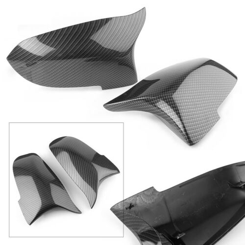 Rearview Mirror Cover Caps ABS Carbon Fiber Fit BMW F10 F11 F01 2014-2015 2016