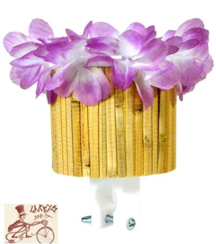 CRUISER CANDY CUP BAMBOO  PURPLE FLOWER DRINK HOLDER
