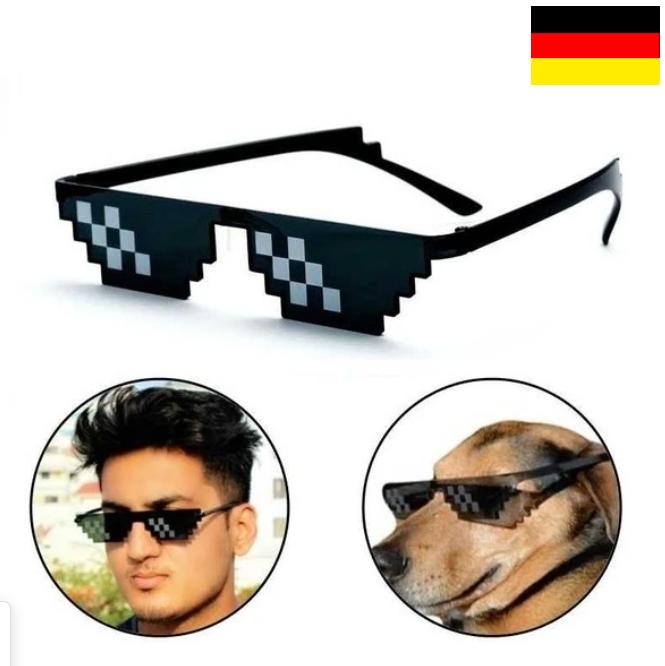 * 8 bits gafas de sol gafas de píxeles glasses Thug Life sucederá YouTube deal Boss retro