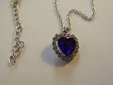 Collier or blanc pendentif Coeur crystal 9k White Gold Filled Crystal Heart Neck