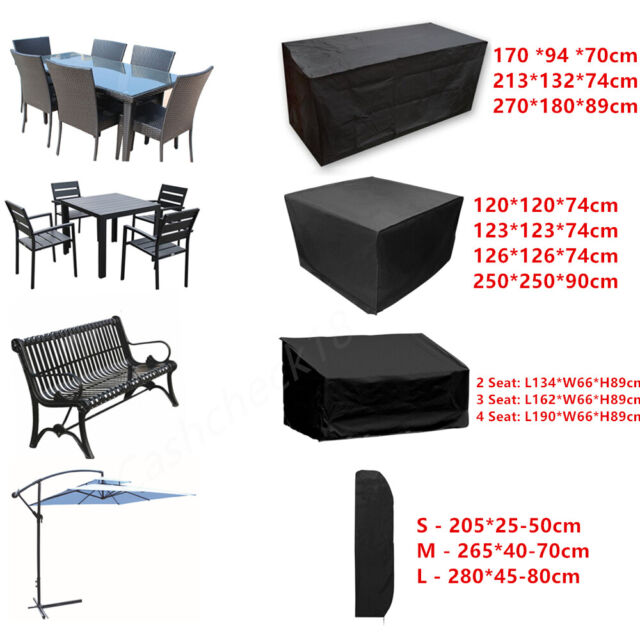 Waterproof Garden Rattan Outdoor Furniture Cover Patio Table Bench Protection Uk