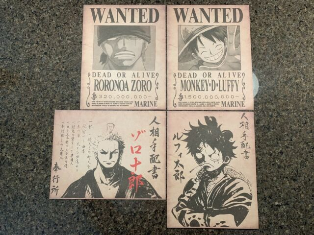 One Piece Wanted Posters Straw Hat Crew HIGH QUALITY Luffy Anime Wano Bounties