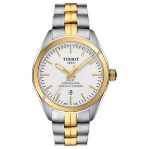 Tissot-Swiss-Made-T-Classic-PR100-Chronometer-2-Tone-Gold-Plated-Ladies-039-Watch