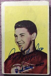 SIGNED-1952-53-Parkhurst-53-Alex-Delvecchio-INSCRIBED-034-3-STANLEY-CUPS-HOF-77-034