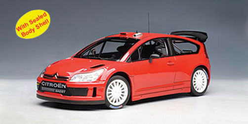 1 18 AutoArt - Citroen C4 WRC - Plain Body Red NEW IN BOX
