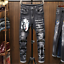 Men-039-s-Patch-Jeans-Pants-Long-Stretch-Fit-Printed-Letters-Comfy-Casual-Trousers thumbnail 1