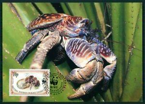 Courageux British Territory Mk 1993 Faune Palmendieb Crabe Coconut Crab Maximum Carte En54-afficher Le Titre D'origine