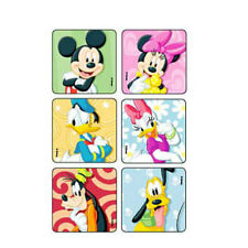 "25 Mickey Mouse and Disney Friends Summer Stickers Party Favors 2.5/""x2.5/"" ea."