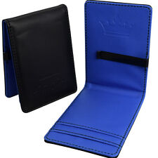 Mens Faux Leather Bifold Money Clip -Black Blue Magic Wallet- Cash Card Holder