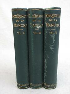 Cervantes-DON-QUIXOTE-Motteux-Translation-Vol-039-s-2-4-Circa-1880-Worthington-Co