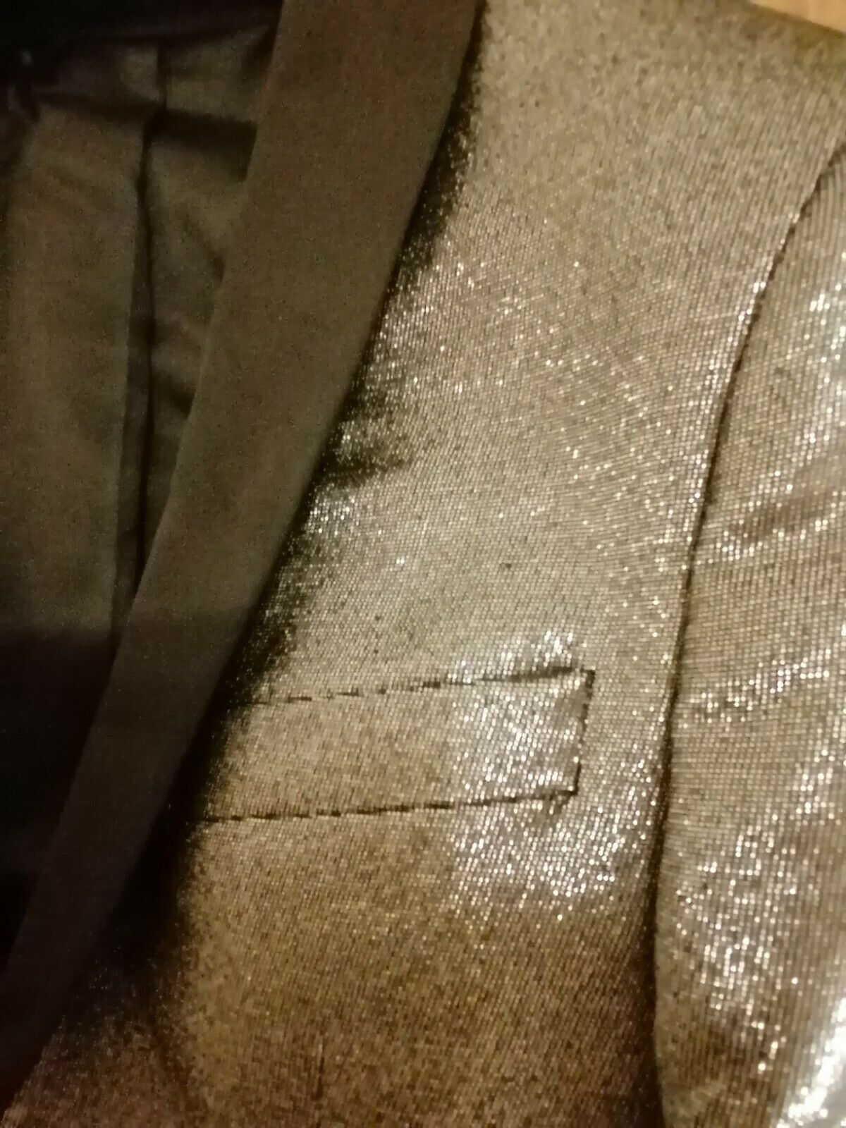 tuxedo evening dinner silver suit jacket stage cruise prom dance formal 34-36