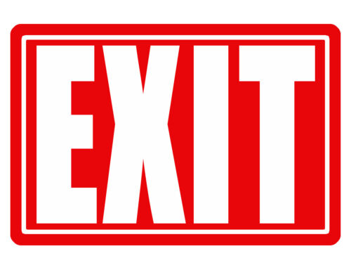 EXIT Sign CUSTOM SIGN Durable Aluminum WEATHER PROOF NO RUST BUSINESS SIGN #315
