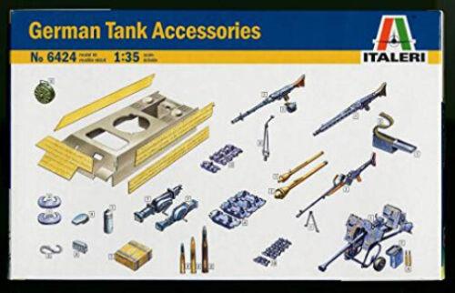 Italeri 6424 WWII German Tank Accessories and Equipment plastic model kit 1//35