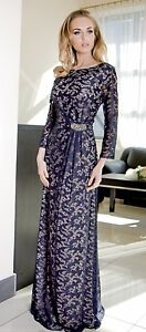 Formal-Ladies-Wedding-Party-Evening-Long-Maxi-Dress-Size-10-20