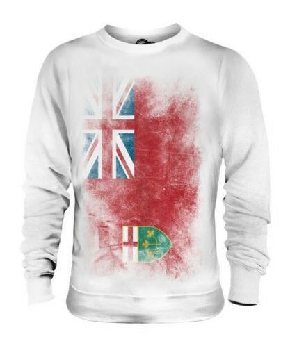 ONTARIO FADED FLAG UNISEX SWEATER TOP GIFT SHIRT CLOTHING JERSEY