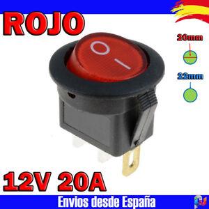 Interruptor-LED-redondo-22mm-12v-20A-con-luz-ROJO-Electronica-Arduino