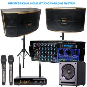 SONKEN HOME KARAOKE STUDIO PACKAGE DEAL (SA-720 AMP/CS-600 SPK/SUB/WIRELESS MICS