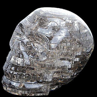3D Light Crystal Skull Puzzle With Flashing Light 49pcs Jigsaw DIY Blocks Black