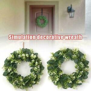 Simulation-Decorative-Wreath-Eucalyptus-Money-Leaf-Artificial-DIY-Flower-L1K6