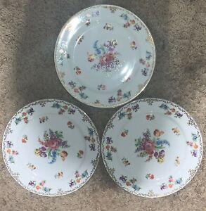 Noritake Dresdoll Dinner Plates 4716 (Lot of 3)