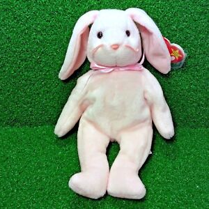 47e42d07df3 Very Rare 1996 PVC Ty Beanie Baby Hoppity Rabbit Canadian Tush With ...