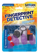 Fingerprint Detective Thames & Kosmos Spark Science Experiment Kit Educational