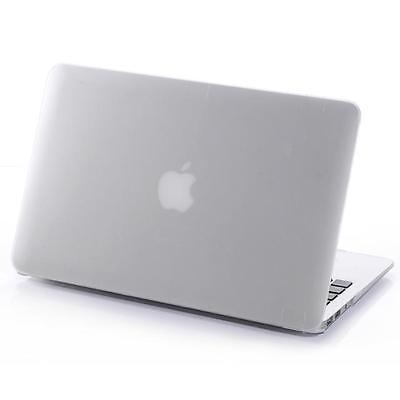 "Rubberized Hard Case Cover (No Cut) for MacBook Air White Pro Retina 11"" 13"" 15"""