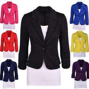 b22461c52c6 Office Wear to Work Suit Women Slim Fit Jacket Blazer Coat Tops Plus ...