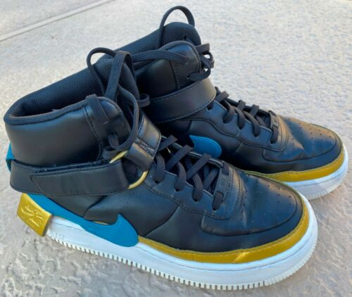 NIKE AIR FORCE 1 AF1 AR0625-001 NIKE BLACK BLUE G